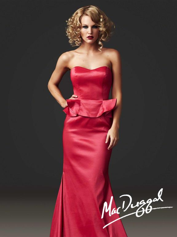 The Mac Duggal Peplum dress.
