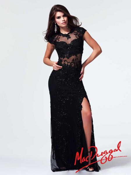 Mac Duggal Style 1903M - Black Prom Dress