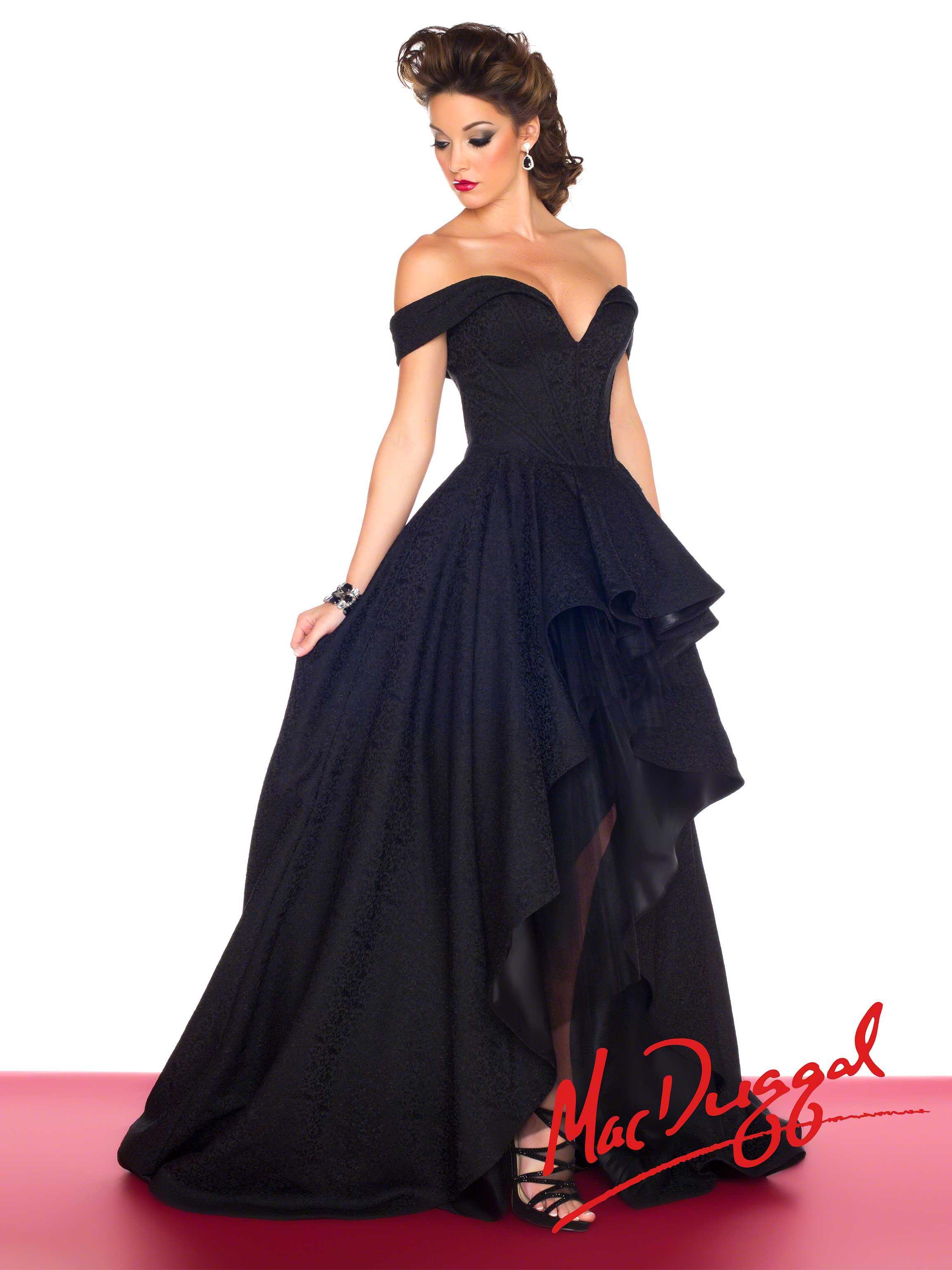 Mac Duggal Style 48134R - Black Prom Dress 709f04bb0
