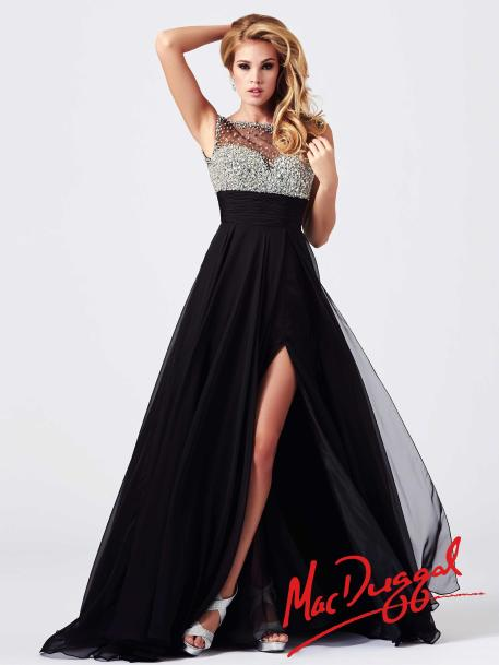 Mac Duggal Style 64632M - Black Prom Dress