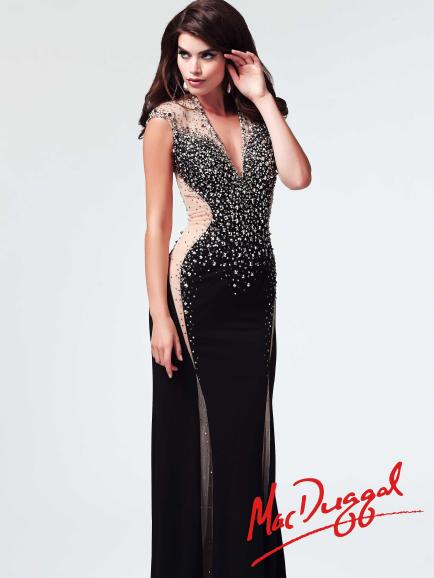 Mac Duggal Style 82019M - Black Prom Dress