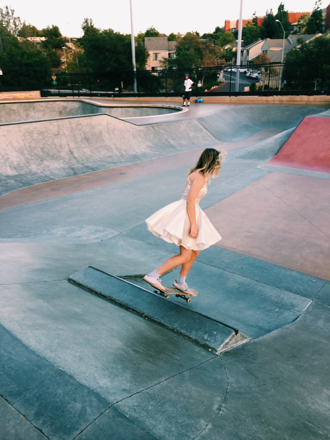stylish skating homecoming dress