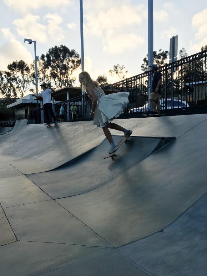 skate boarding in style